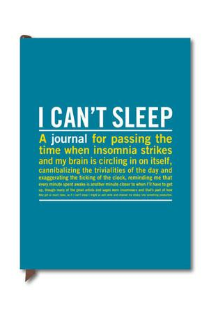 X - Journal: I Can't Sleep Stationery