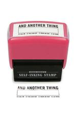 X - And Another Thing Stamp