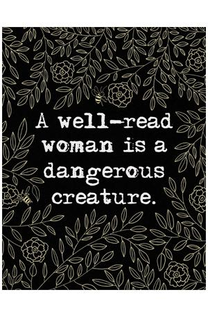 Poster: Well-Read Woman