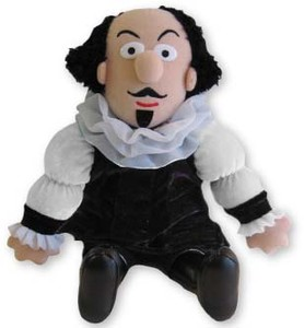 X - William Shakespeare Little Thinker Doll Giftware